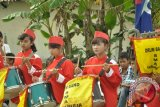 Atraksi drumband meriahkan soccer kompetition Kubu Raya 2.
