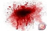 Seorang wanita bersimbah darah korban penganiayaan teman medsos
