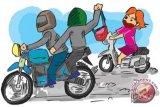 Nahas! Penjambret di Seruyan tewas setelah dikejar dan jatuh dari motor
