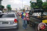Pernak pernik HUT RI mulai diperdagangkan di Palembang
