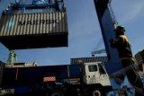 Kapal pengangkut peti kemas tabrak container crane