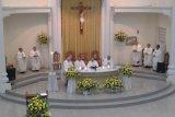 Misa Perayaan Imamat 50 tahun empat pastor MSC