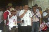 Warga Kertapati Palembang aksi damai tolak penggusuran