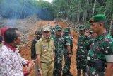 Karya Bhakti Kodim Waykanan Buka Jalan 3.200 Meter