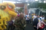 Dirut PT Timah (Persero)Tbk, M Riza Pahlevi bersama ribuan warga Kota Pangkalpinang mengikuti jalan sehat peringatan HUT PT Timah ke-40 tahun.