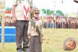 Siswi Kelas II SD Jadi Irup HUT Pramuka di Waykanan