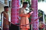 Wakil Wali Kota Pangkalpinang M Sopian memberikan sambutan saat upacara HUT Kota Pangkalpinang ke-259 di halaman kantor Wali Kota Pangkalpinang pada Sabtu (17/9/2016). (Foto Antara/Mahendra).