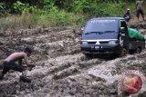 Jalan penghubung Kutai Timur-Berau rusak parah