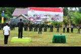 Penutupan Operasi Bakti Kartika Jaya Sail Karimata TA.2016 di Kabupaten Kayong Utara Wilayah Kodim 1203/Ketapang oleh Wakil Bupati Kayong Utara Idrus. (Foto Istimewa/ Pendam XII/Tpr)