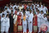 Foto bersama usai pelaksanaan upacara Hut Kemerdekaan di Gorontalo Utara