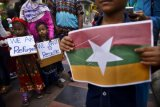 Aksi Demo di Kedubes Myanmar Terkait Pembantaian Etnis Rohingya