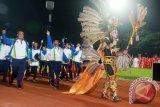 Pekan Olahraga Provinsi (Porprov) Kalimantan Selatan X, di Kabupaten Tabalong diikuti 6.505 atlet dan ofisial dari 13 kabupaten/kota. Pelaksanaan Porprov X di Tabalong mulai pada 26 September hingga 8 Oktober 2017 sebanyak 10 cabang olahraga. Acara pembukaan Porprov X di Stadion Tabalong Bersinar, Minggu (8/10) malam. Foto:Antaranews Kalsel/Upik/G.