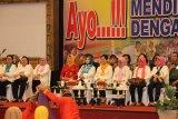 Kunjungan kerja Ibu Negara Iriana Joko Widodo dan Ibu Mufidah Jusuf Kalla bersama anggota OASE Kabinet Kerja Jokowi-JK di Gorontalo