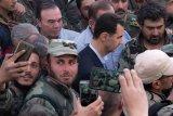 Presiden Bashar temui tentara di garis tempur