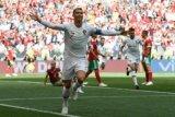 Gol sundulan Ronaldo bawa Portugal menang  atas Maroko