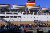 Arus balik penumpang libur natal dan tahun baru di pelabuhan Jayapura meningkat