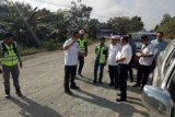Kadis PUPR monitoring progres proyek infrastruktur di barat Kalteng
