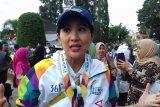 Olivia Zalianty ramaikan kejuaraan kungfu internasional Bali terbuka