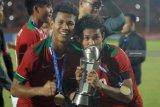 Penampilan si kembar Bagas-Bagus pemain timnas U-18 yang tertukar