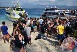 Wisatawan di Gili Matra tinggalkan pulau pascagempa
