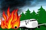 Pesawat militer Ukraina pengangkut taruna AU jatuh 22 tewas