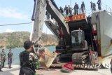 Prajurit Zeni dan Marinir tiba di Lombok