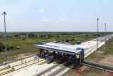 Jalur masuk pintu tol Palembang-Kayu Agung diperketat