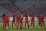 Babak pertama, Indonesia tertinggal 0-1 dari Singapura