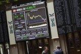 Saham Spanyol jatuh melemah menikmati keuntungan selama tiga hari