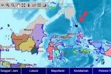 BMKG: Gempa bumi magnitudo 5 di Kepulauan Talaud tidak berpotensi tsunami