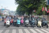 Komunitas vespa ajak pengendara utamakan keselamatan di jalan raya