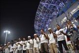 Ribuan pendukung Prabowo-Sandi kampanye  dalam nuasa  religi di Gelora Bung Karno