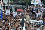 Prabowo sampaikan orasi politik pada kampanye akbar di Palembang
