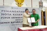 Pusri-Semen Baturaja sinergi suplai bahan baku pupuk NPK