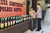 Polres Bantul menyita 86 botol minuman keras