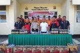 Polres Sumbawa Barat mengamankan 474 botol minuman keras