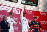 Hamilton hattrick juara GP Spanyol , bawa Mercedes finis 1-2 kelima kali