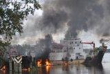 KM Sinar Maros terbakar di Merauke, dua ABK  meninggal saat