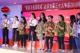 Siswa Indonesia - China main angklung pada Hari Anak Internasional