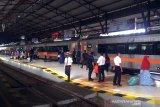 Kedatangan pemudik di stasiun Daop Purwokerto masih ramai