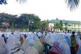 Ribuan umat Islam Shalat Idul Fitri di Makorem Wirasakti