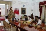 AHY dan Ibas silaturahmi dengan Presiden Jokowi
