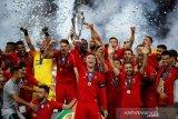 Timnas Portugal raih piala UEFA Nations League di Hari Nasional Portugal