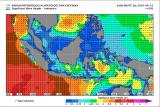 Tinggi gelombang perairan Krui Lampung diprakirakan tiga meter