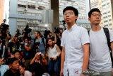Joshua Wong aktivis demokrasi Hong Kong ditangkap