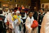 Rombongan pertama calon haji Indonesia tiba di Mekkah Minggu malam