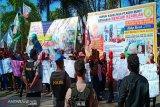 Puluhan Buruh di Kotim demontrasi ke Pemkab tuntut keadilan