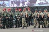 Tentara Indonesia-Malaysia  latihan bersama  tanggulangi teroris