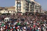 Timnas Aljazair disambut meriah bagai pahlawan