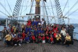 Puluhan peserta BJRB  Lantamal VIII berlayar dengan KRI Dewaruci